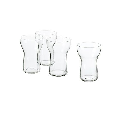 OMTÄNKSAM vaso, juego de 4 unidades