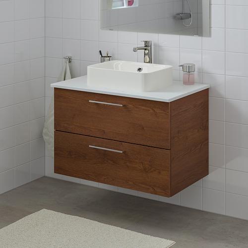 HÖRVIK/GODMORGON/TOLKEN mueble de baño para el lavabo con 2 cajones, 82x49x72cm
