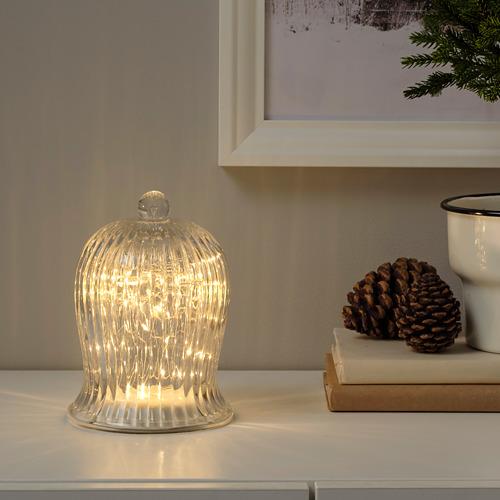 STRÅLA adorno mesa LED, 12cm de diámetro