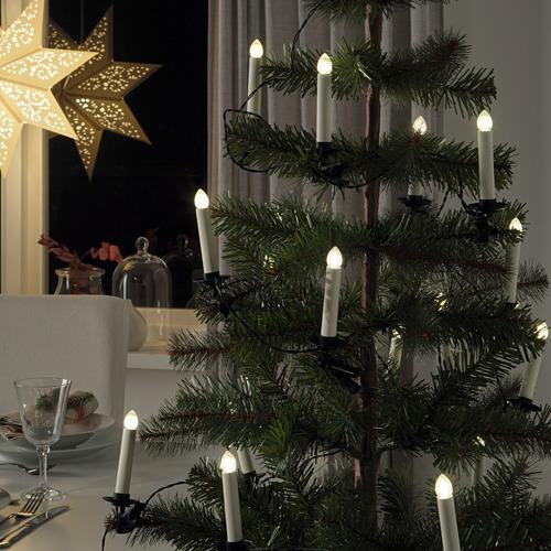 STRÅLA guirnalda iluminación LED 24 luces, 14,4m de longitud
