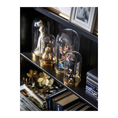 BEGÅVNING campana decorativa vidrio + base