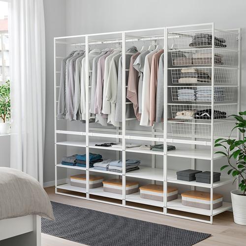 JONAXEL estructura+cesta de rejilla ancha+barra+estantes