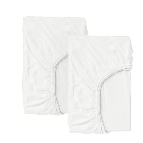 LEN sábana ajustable para cuna, juego de 2