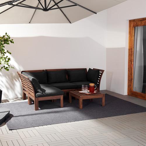 ÄPPLARÖ sofá 3 esquina modular exter