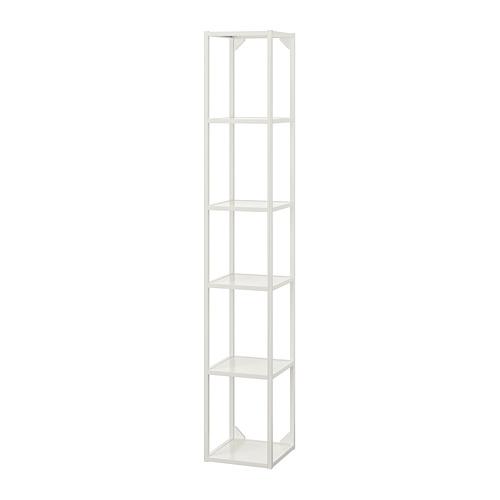 ENHET mueble alto de baño abierto con 4 estantes, 30x30x180cm