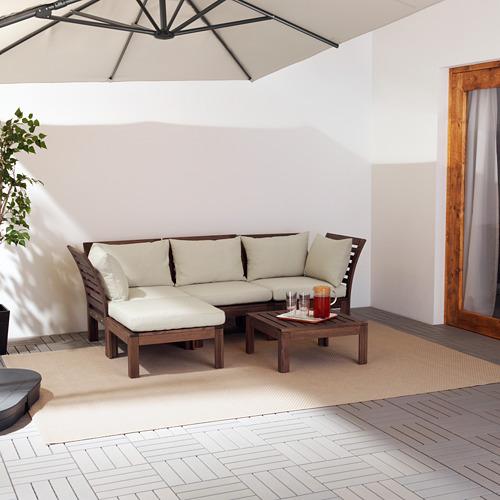 ÄPPLARÖ Sofá modular 3 plazas de exterior