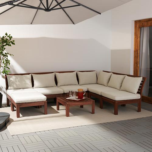 ÄPPLARÖ sofá 5 esquina modular ext