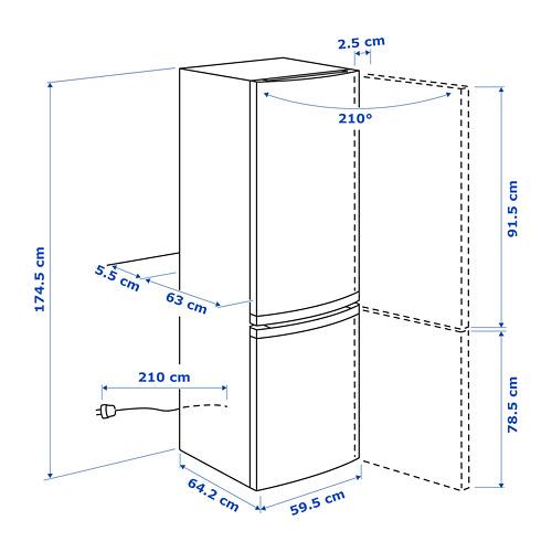 LAGAN Frigorífico combi A+ , 55,3x57,4x84,5cm