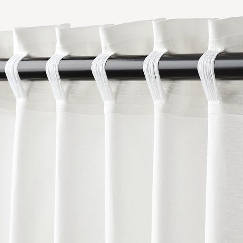 JÄTTELIK cortinas con alzapaños, 1 par