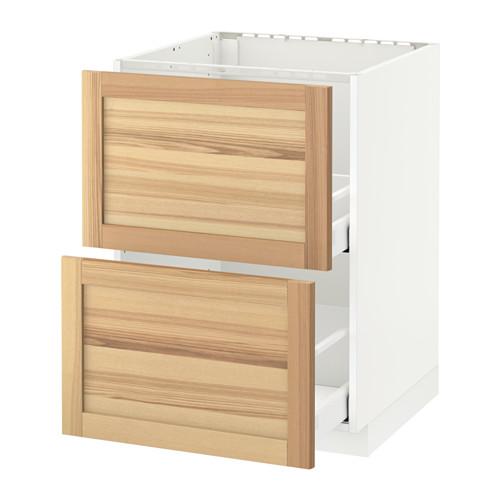 MAXIMERA/METOD armario bajo fregadero 2 cajones