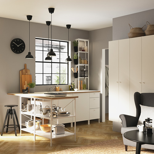 ENHET mueble alto de baño con 4 estantes, 30x30x180cm