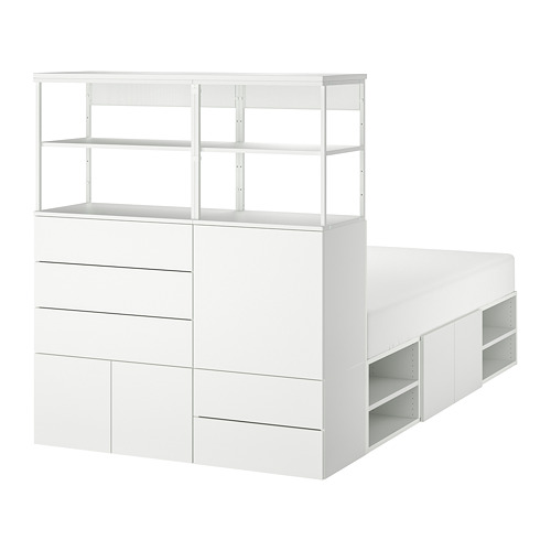 PLATSA estructura cama 5 puertas+5 cajones