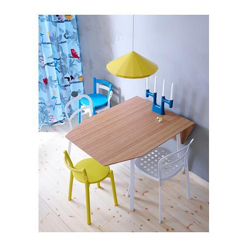 IKEA PS 2012 mesa extensible abatible, mínimo extensión 74cm y máximo extensión 138cm