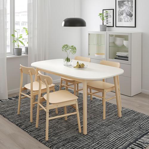 RÖNNINGE/VEDBO mesa con 4 sillas, longitud de la mesa 160cm