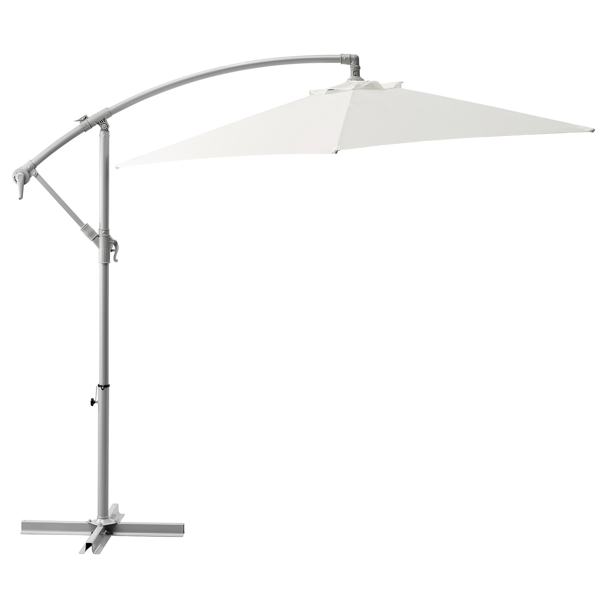 BAGGÖN Parasol, hanging white 250 cm
