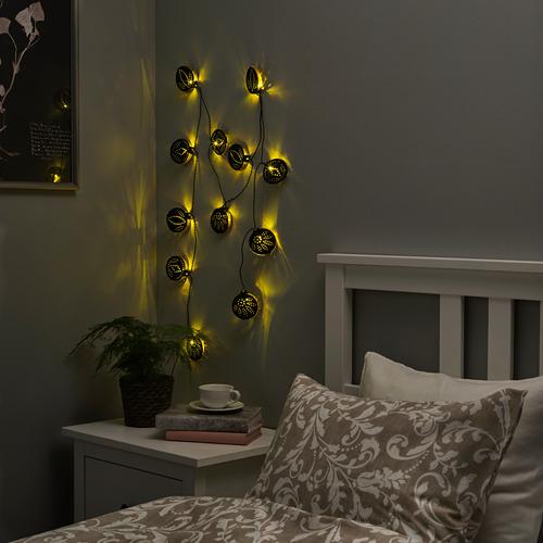 STRÅLA guirnalda LED 12 bombillas, 3,6m de largo