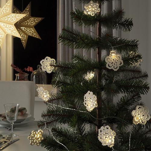 STRÅLA guirnalda iluminación LED 12 luces, 3,6m de longitud