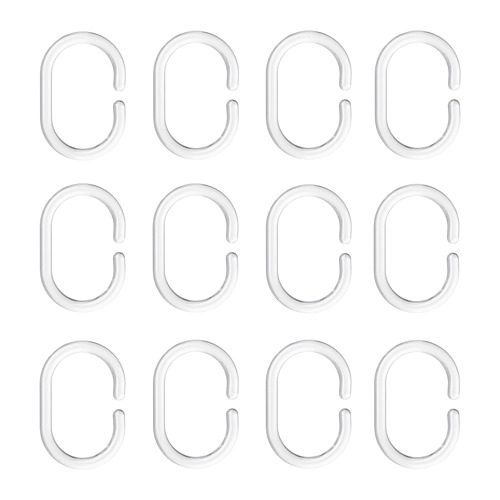 RINGSJÖN anillas para cortina de ducha, juego de 12