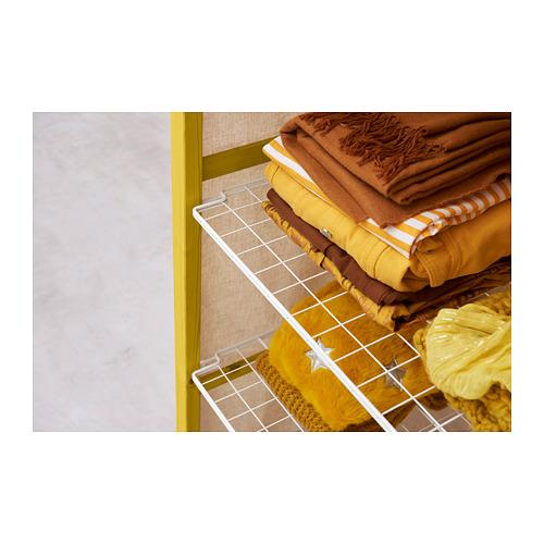 IVAR Estantería, 1 sección con barra, estantes y funda, 89x50x179cm