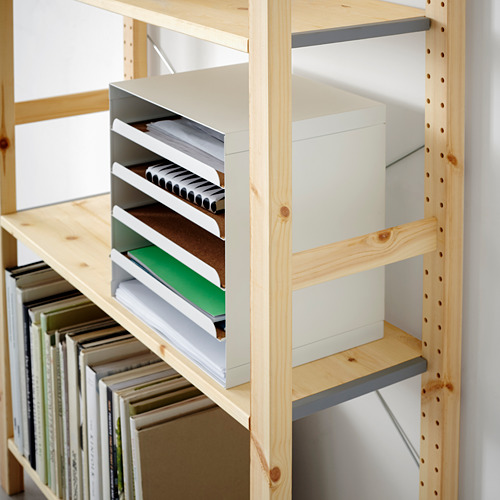IVAR Estantería, 1 sección con estantes, 89x30x179cm