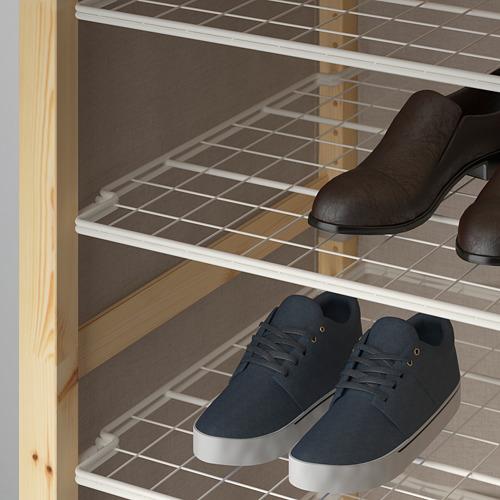 IVAR Estantería, 2 secciones con riel de ropa y  estantes  , 174x50x179cm