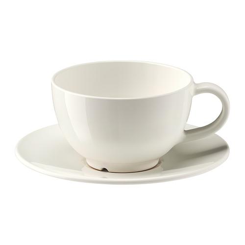 VARDAGEN taza y plato para té, taza 26cl y diámetro plato 16cm