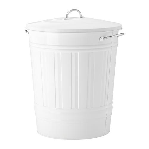 KNODD cubo con tapa, 40 litros
