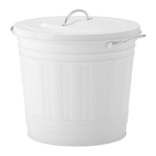 KNODD cubo con tapa, 16 litros