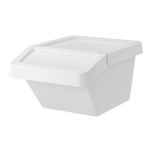 SORTERA cubo de basura con tapa, 37 litros