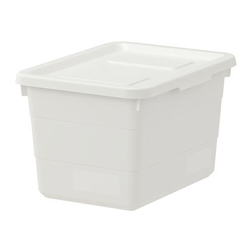 SOCKERBIT caja con tapa, 19x26x15 cm