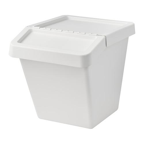 SORTERA cubo de basura con tapa