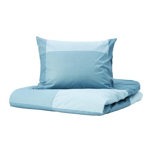 BRUNKRISSLA Funda nórdica para cama individual y funda almohada, 152 hilos
