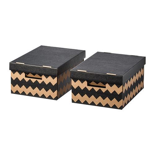 PINGLA caja con tapa, juego de 2 unidades