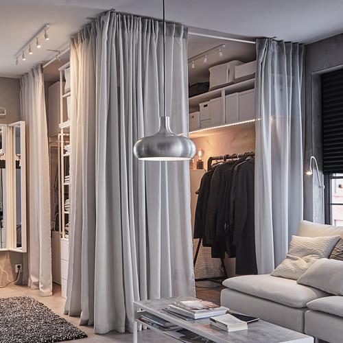 GUNRID cortina purificadora de aire, 1par, 145x300cm
