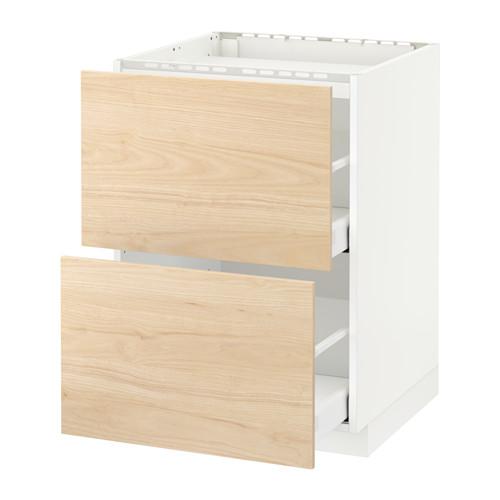 METOD armario bajo para placa 2 cajones