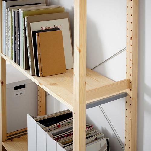 IVAR Estantería, 2 secciones con estantes, 134x30x179cm