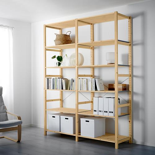 IVAR Estantería, 2 secciones con estantes, 174x50x226cm