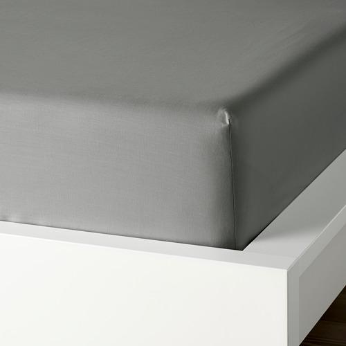 DVALA sábana bajera ajustable, 152 hilos, 160cm