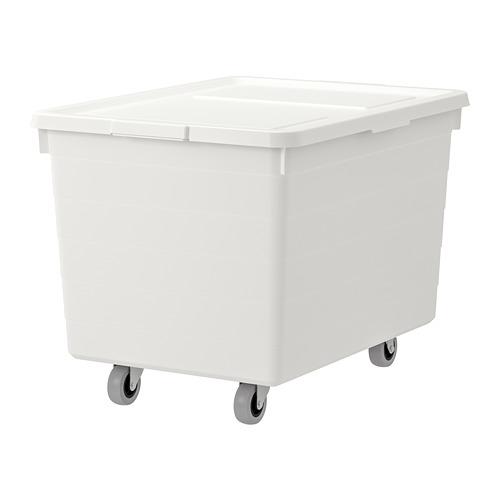 SOCKERBIT cajón con ruedas y tapa, 38x51x37cm
