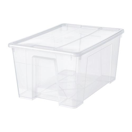 SAMLA caja con tapa, 45 litros