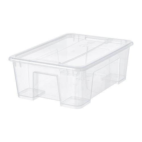SAMLA caja con tapa, 11 litros