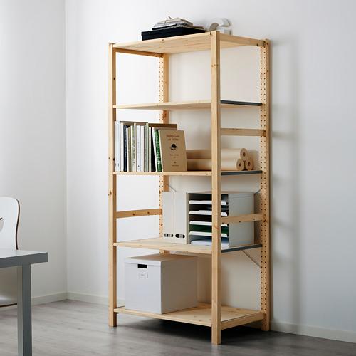IVAR Estantería, 1 sección con estantes, 89x50x179cm