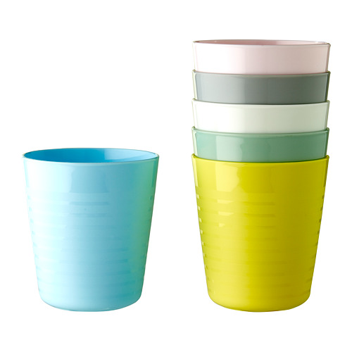KALAS juego de 6 vasos de diferentes colores