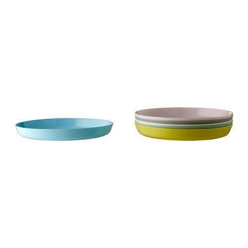 KALAS juego de 6 platos de diferentes colores