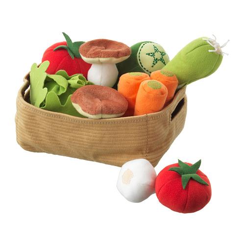 DUKTIG verduras de peluche, juego de 14