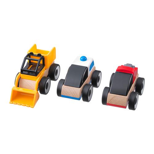 LILLABO vehículo de juguete, juego de 3