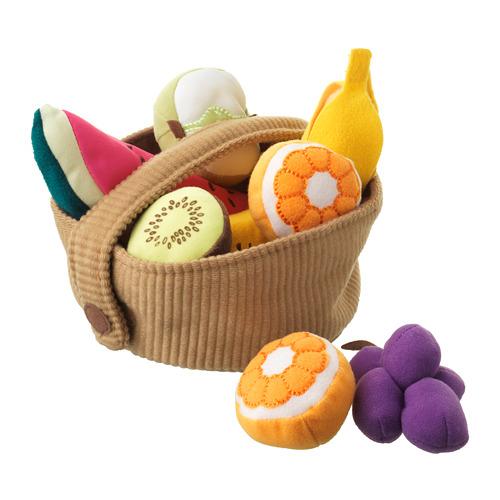 DUKTIG  cesta de frutas, juego de 9