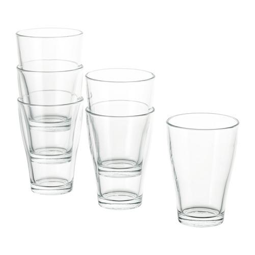 BEHÄNDIG vaso, juego de 6 unidades