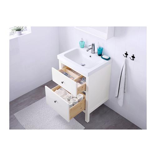 ODENSVIK/HEMNES mueble de baño para lavabo con 2 cajones, juego de 3