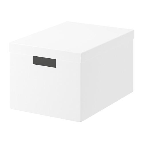 TJENA caja con tapa, 35x25x20cm